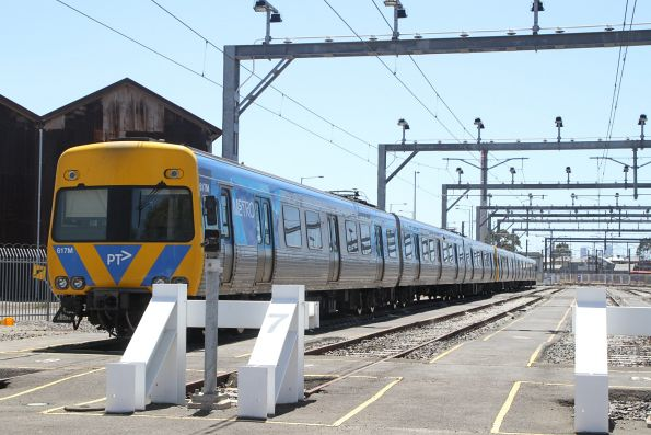 Life extension Alstom Comeng 617M stabled at Newport
