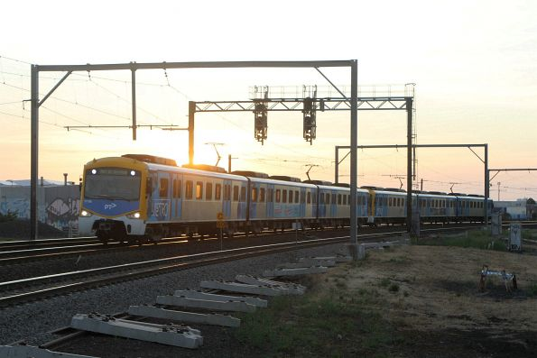 Siemens 771M on an up empty car run at Newport South
