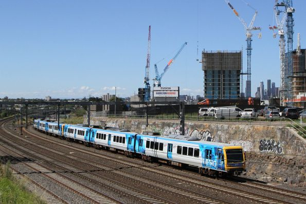 X'Trapolis 133M on a down Werribee service at Footscray