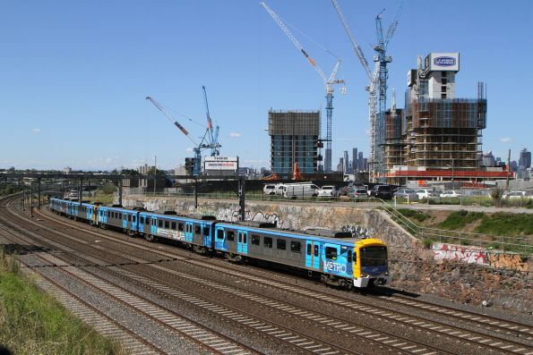 Siemens 714M on a down Werribee service at Footscray