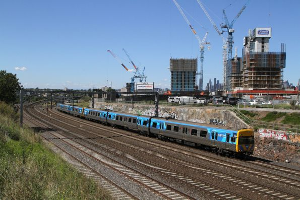 Alstom Comeng 338M on a down Werribee service at Footscray