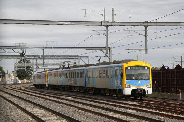 Siemens 759M on an up Sunbury service at Middle Footscray