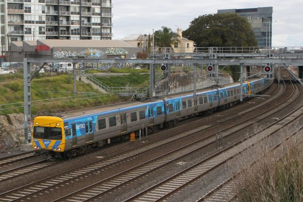 Alstom Comeng 601M on an up Werribee service at Footscray