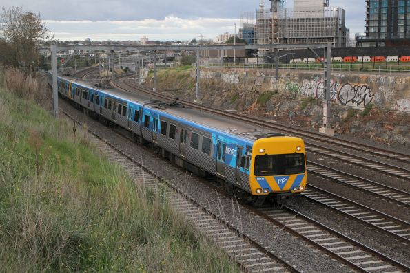Alstom Comeng 601M on a down Sunbury service at Footscray