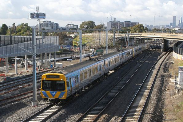 EDI Comeng 357M on a down Sunbury service at West Footscray