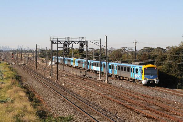 Siemens 746M trails an up Altona Loop service out of Laverton