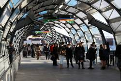Passengers wander around confused at Footscray, no trains running after the overhead failed at Southern Cross a few hours earlier