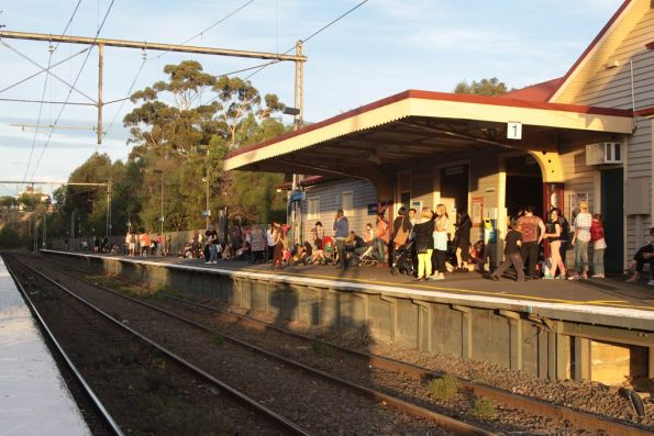 Zoo patrons at Royal Park need to wait another 20 minutes for the next train to the city