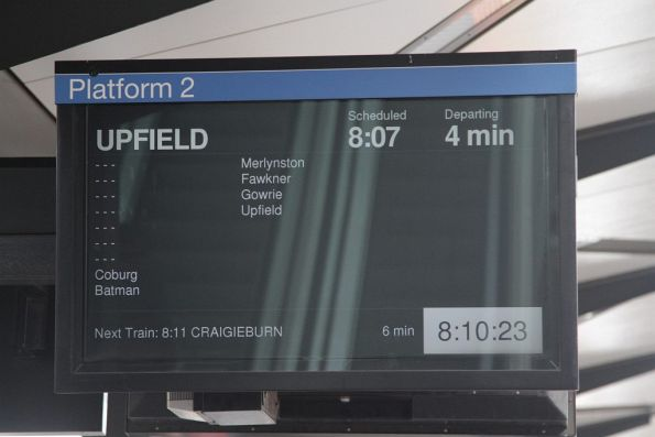 Another Upfield line train altered to run express to Coburg due to late running