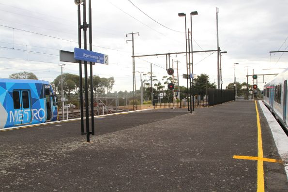 The next citybound service makes a last minute change at Upper Ferntree Gully station