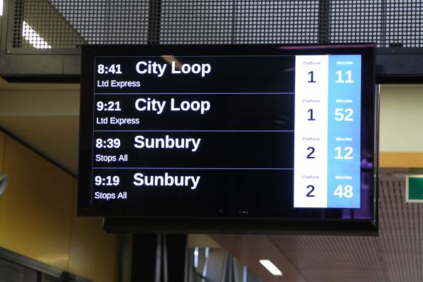 40 minutes between Sunbury line trains on a Sunday morning!