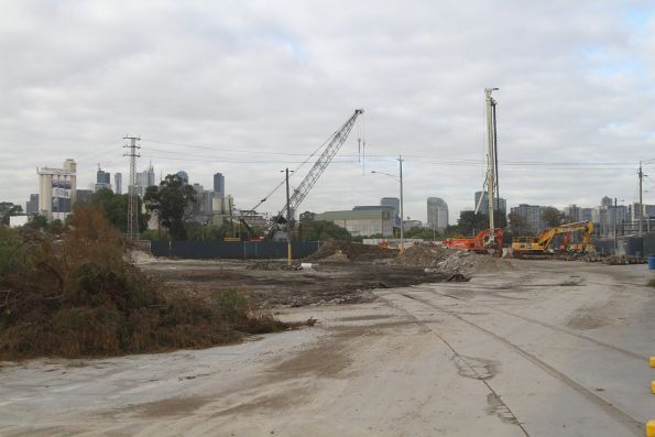 Site clearance works at the future Arden Street station