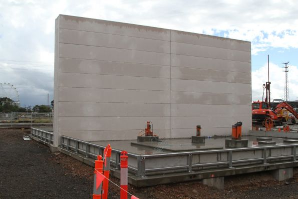 Temporary power substation taking shape on Barwise Street in North Melbourne
