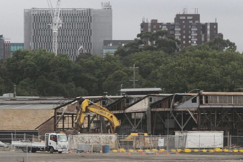 Demolishing Laurens Hall on Arden Street