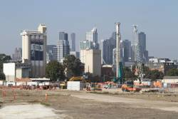 Looking back to the CBD over the Arden station site