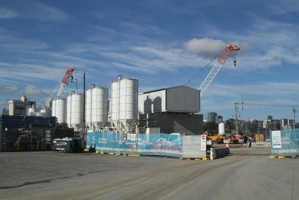 Concrete batching plant at the Arden work site