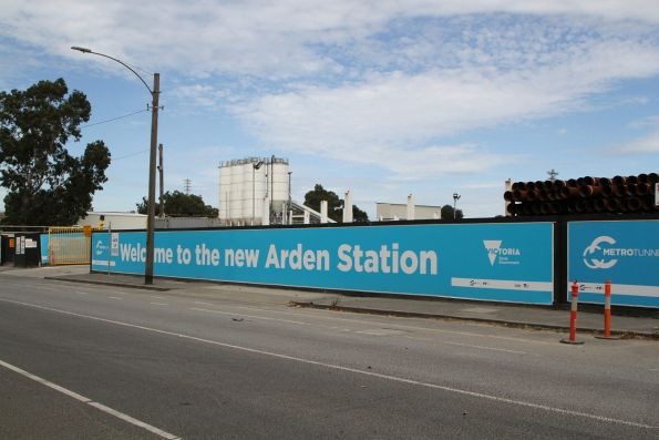 'Welcome to the new Arden station' sign outside the station site