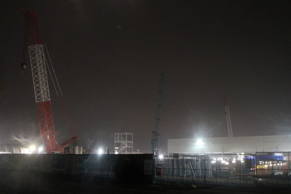 Work continues 24/7 at the Arden station site