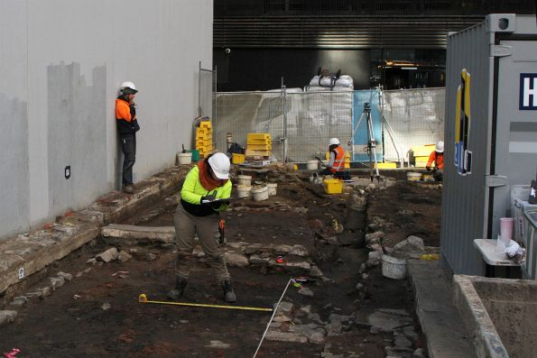 Archaeological dig underway at 18 Little Latrobe Street