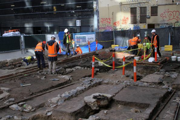 Archaeological dig underway at 12-16 Little La Trobe Street