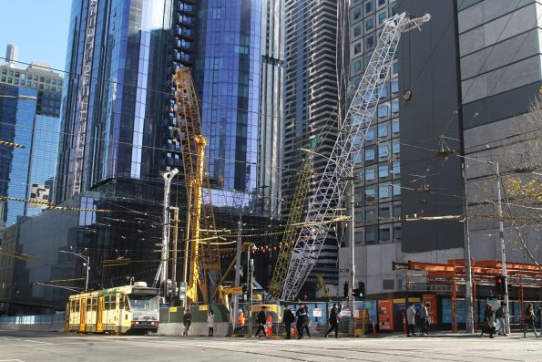 Shaft taking shape at the corner of La Trobe and Swanston Street