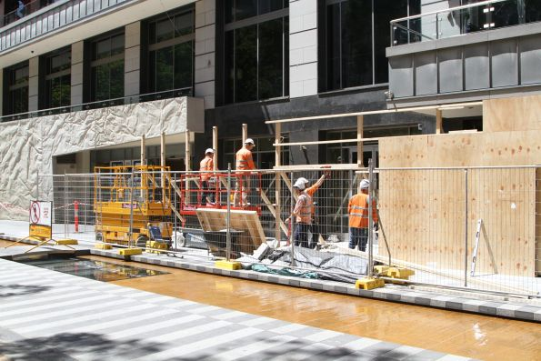 Site clearance work starts at City Square for Melbourne Metro construction