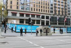 City Square fenced off for Metro Tunnel works