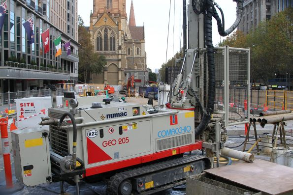 Piling works underway at City Square