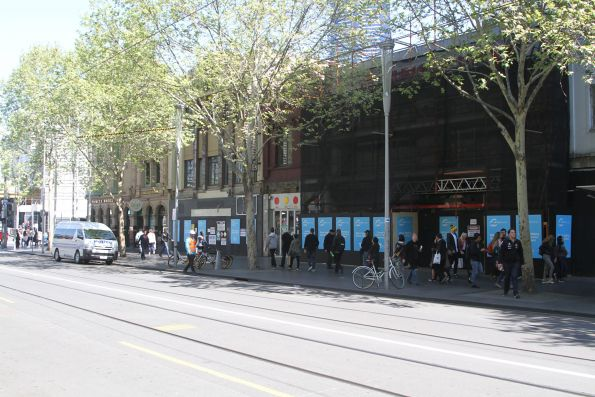 Shops at the arse end of Swanston Street acquired to make way for the future entrance to CBD South station