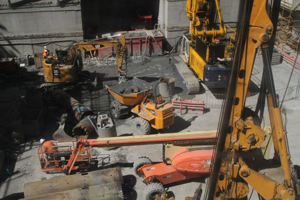 Piling works continue at the City Square worksite
