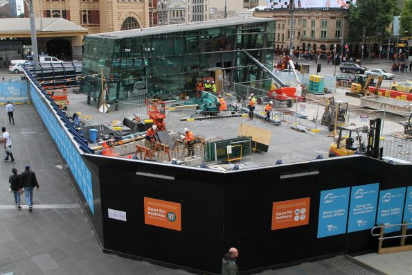 Metro Tunnel works at CBD South