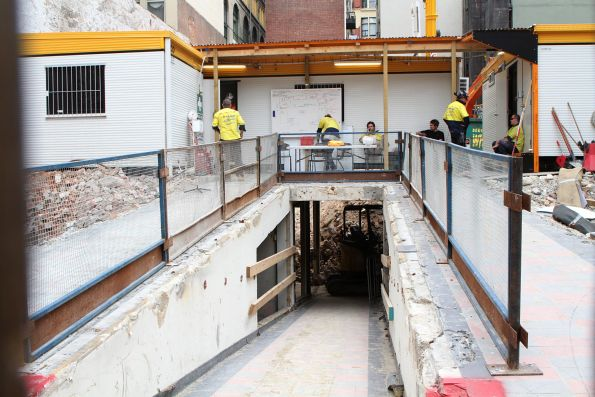 Basement still in place at the former Port Phillip Arcade off Flinders Street