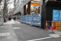 Extra pedestrian signal added north of the Swanston Street and Flinders Lane intersection