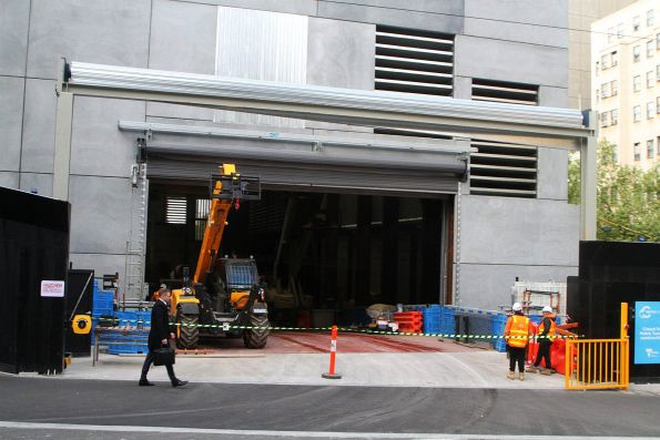 Entrance to the City Square site from Collins Street