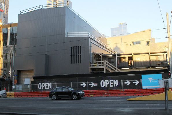 Completed acoustic shed at the Federation Square shaft