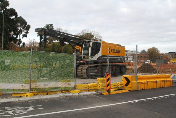 Metro Tunnel works at Domain