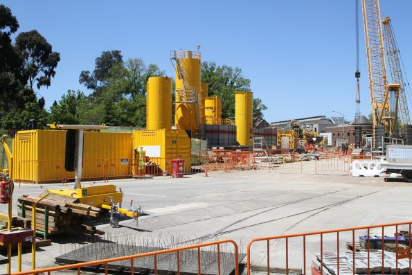 Piling works underway for the TBM launch box at the future Anzac station site