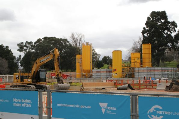 Excavation works well underway at the northern station box
