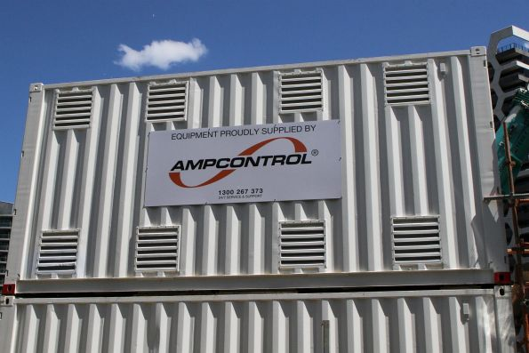 Ampcontrol containerised electric substation at the work site