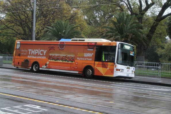 Ventura bus #34 4634AO on a Sandringham line rail replacement service at Spring Street