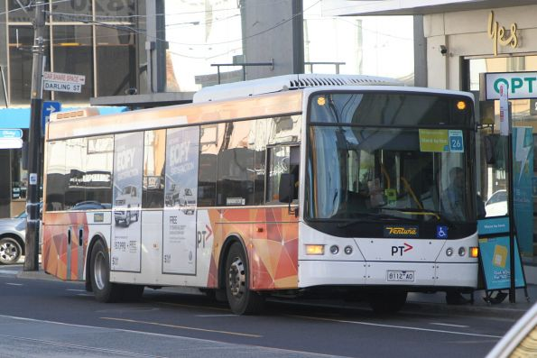 Ventura bus 8112AO on a Sandringham line rail replacement service at South Yarra