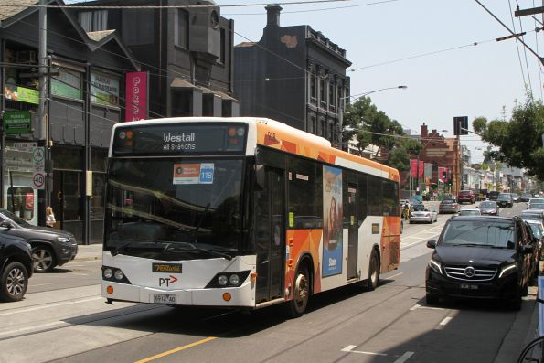 Ventura bus #928 6912AO on Toorak Road with all stations run to Westall
