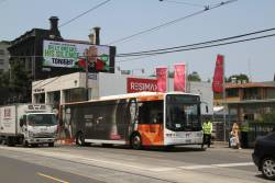 Ventura bus #770 6370AO pauses at South Yarra station on an all stations run from Westall