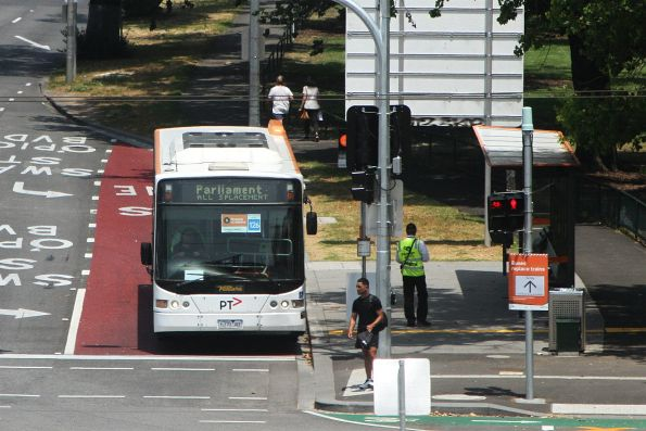 Ventura bus #6370AO pauses at Richmond station on an all stations run from Westall