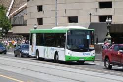 Dysons bus #182 4229AO heads north over Princes Bridge