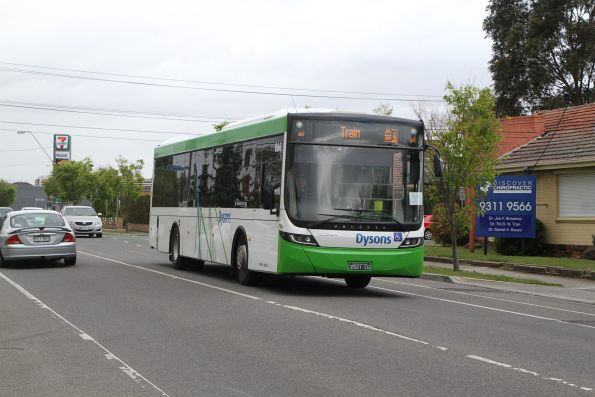 Dysons bus #866 BS01CG on a Sunbury line rail replacement service on Hampshire Road, Sunshine