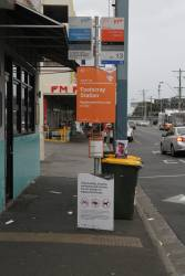 Sunbury line rail replacement bus stop at Footscray station