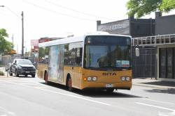 Sita bus #287 5917AO on a Werribee line rail replacement service on Melbourne Road, Newport