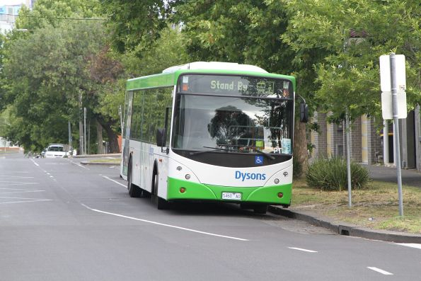 Dysons bus 5460AO on standby at North Melbourne station