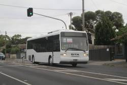 Sita bus #291 BS01PY on a Williamstown line rail replacement service on Melbourne Road, Newport